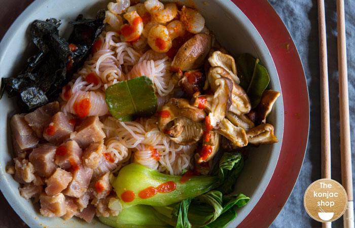 Happiness bowl con nudos konjac – 290kcal
