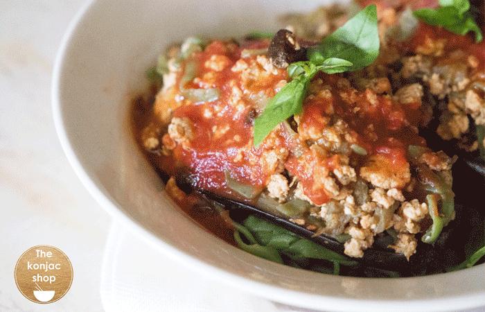 Berenjena rellena al ajo negro – 400kcal
