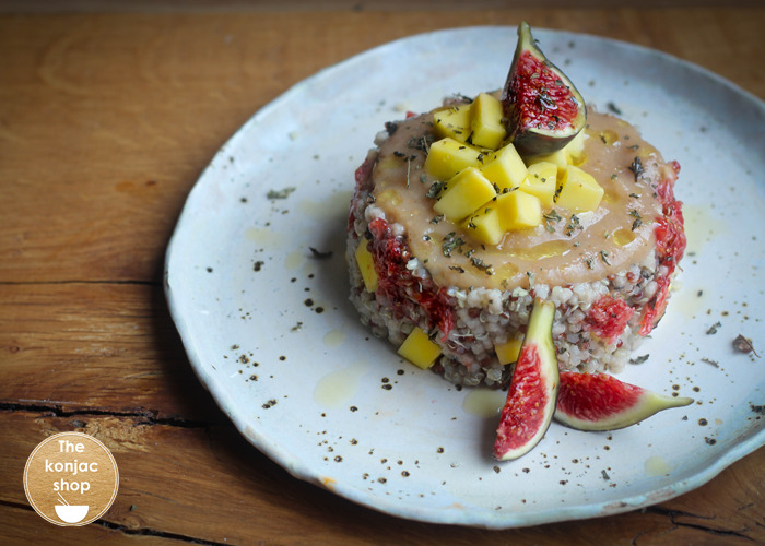Taboulé templado con frutas de temporada